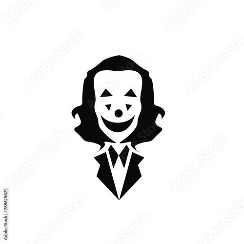 Photo  joker logo icon design vector illustration