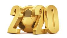 New Year. Golden Soccer Ball W...