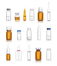 Ampoules And Medical Bottles Set 6