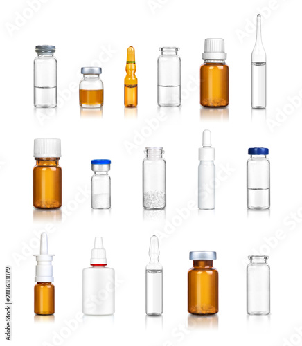 ampoules and medical bottles set 6 Canvas Print