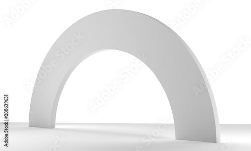 Photo Blank White Gate Or Arc Element.