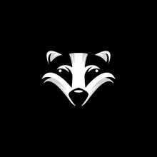 Head Skunk Mascot  Design Vector