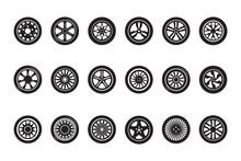 Car Wheel Collection. Automobi...