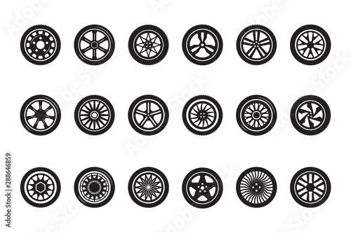 Obraz na płótnie Car wheel collection