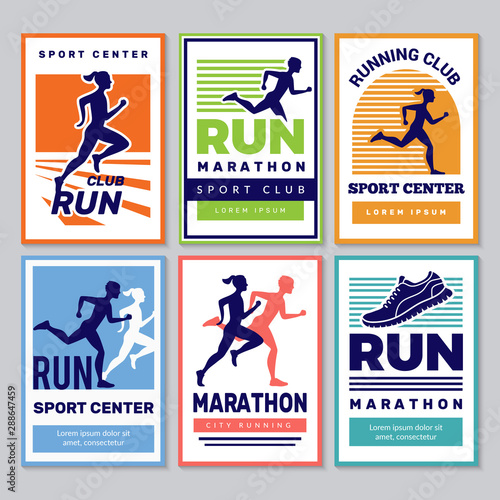 Canvas Print Running club poster