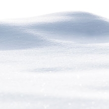 White Clean Snow Texture. Snowdrift Isolated On White Background.