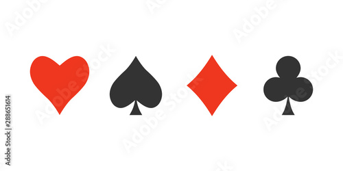 Playing cards icon. Vector illustration, flat design. Wallpaper Mural