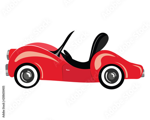 Foto op Aluminium Cartoon cars Cartoon cars. Truck. Transport. Vector illustration for children.