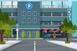 City parking place, vector illustration for you project