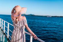 Cruise Ship Vacation Woman Enj...