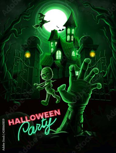 Foto auf Leinwand Texturen halloween background