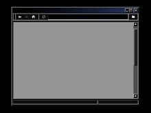 Retro Internet Browser Window. Dark Theme Interface