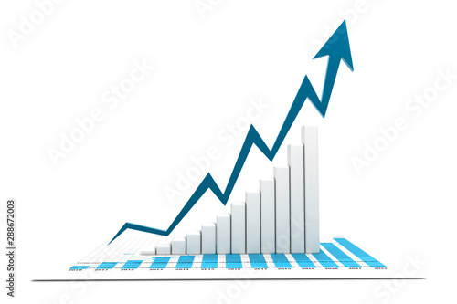 Obraz Economical stock market graph - fototapety do salonu