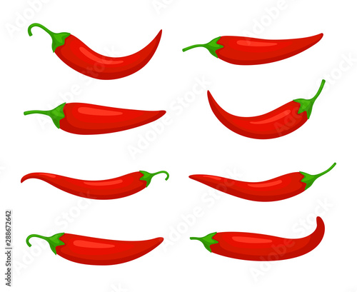 Closeup chilly pepper Canvas