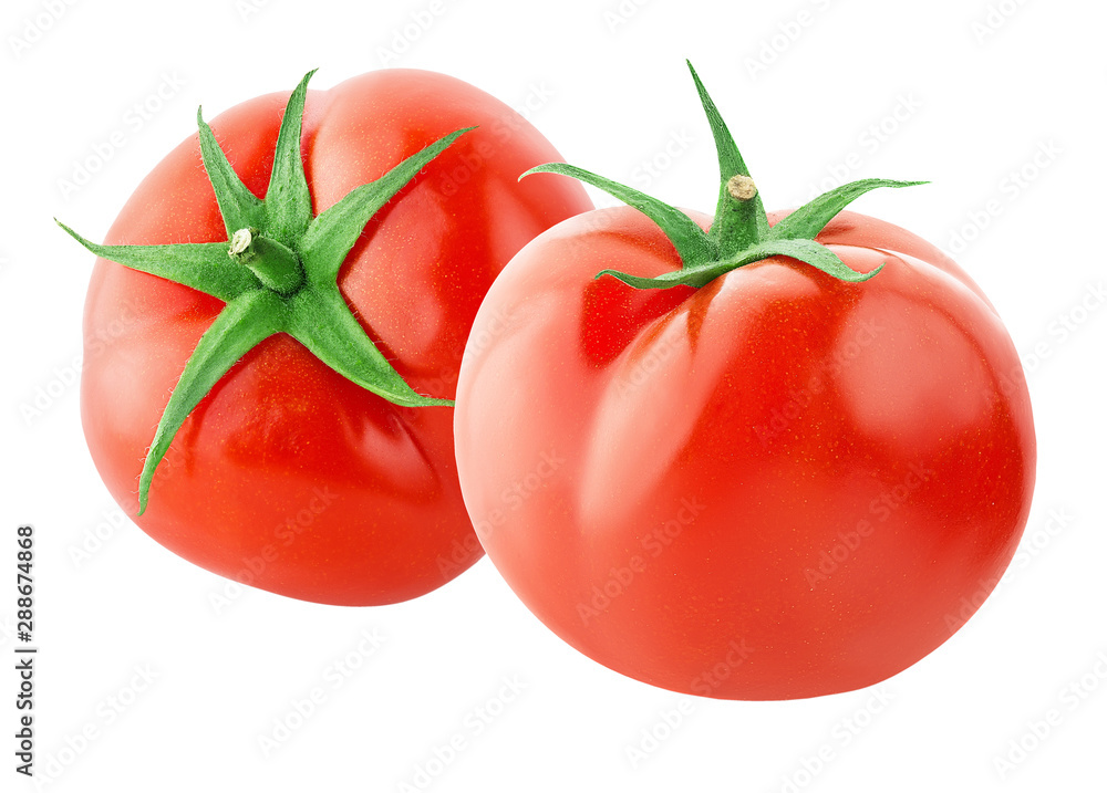 Fototapety, obrazy: one tomato isolated on white background with clipping path