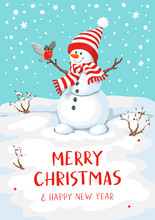 Cute Christmas Greeting Card W...