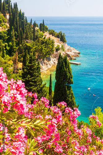 Fototapeta View of stunning Sveti Jakov beach in Dubrovnik, Croatia