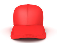 3D Rendering Of Red Baseball Cap