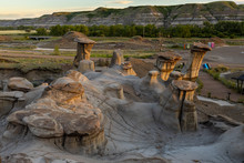 The Hoodoos Of Alberta By Drum...