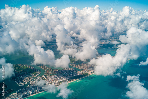 View of the Miami City - United States from the plane - 288685045