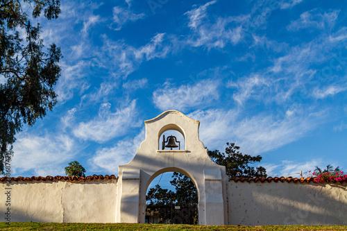 Canvas Print California mission architecture