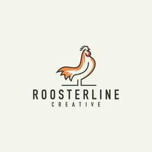 Rooster Logo - Vector Illustration On A Light Background