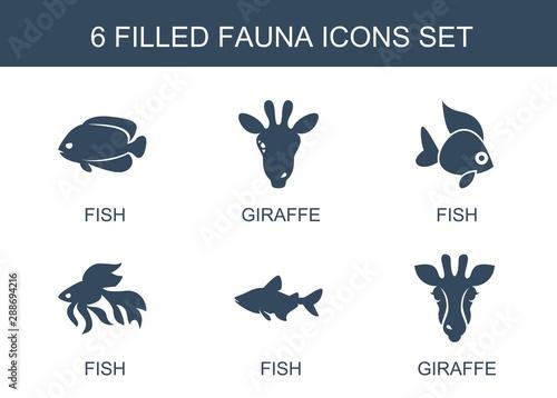 Fototapeta 6 fauna icons