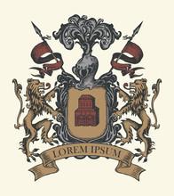 Vector Heraldic Coat Of Arms I...