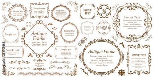 Fototapeta  カリグラフィーフレーム 広告 パンフレット カードデザイン