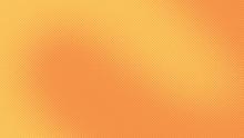 Orange Pop Art Background With...