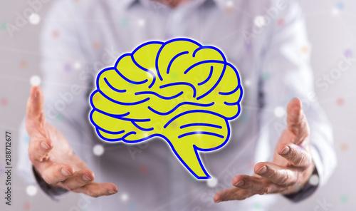 Fotografie, Obraz  Concept of human mind