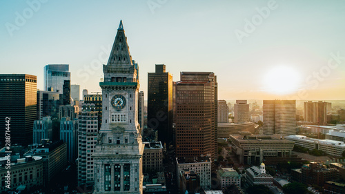 Fotomural Boston Sunset