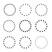 Stars In Circle Icon Vector Il...