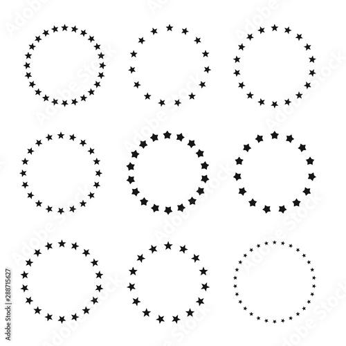 Fototapeta Stars in circle icon vector illustration graphic design