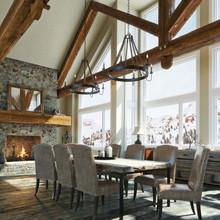 Luxurious Open Floor Rustic Ca...