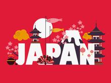 Japan Famous Symbols And Landm...