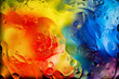 canvas print picture - Beautiful colored abstract background. Background with different drops.