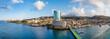 canvas print picture - Im Hafen von Fort de France auf der Insel Martinique- ein Panorama