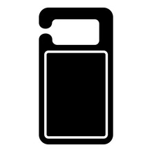 Carton Door Tag Icon. Simple I...