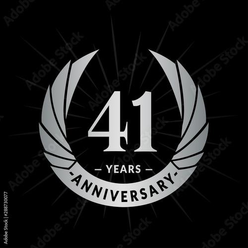 Papel de parede  41 years anniversary celebration logotype