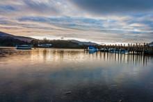 Derwent Water At Sunset, Lake District, UK, 2015