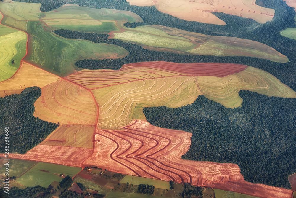 Fototapeta Farmland from the sky.