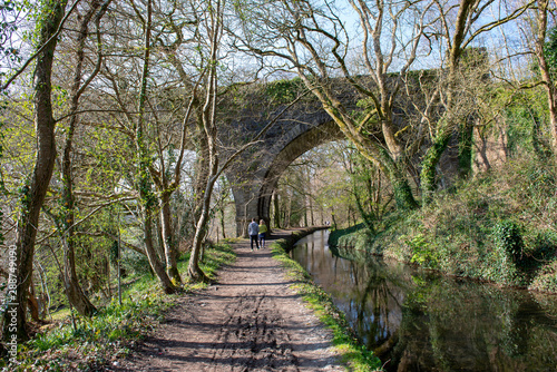 Fotografía Towpath beside the old Tavistock Canal which was constructed in the early 19th century to link the town of Tavistock with Morwhellam Quay on the river Tamar