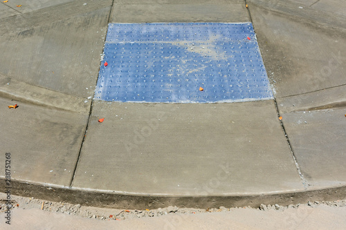 ADA compliant detectable warning surface tactiles installation Canvas Print
