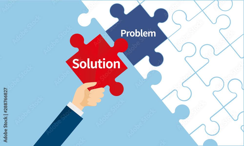 Fototapeta 課題解決のパズルイメージ
