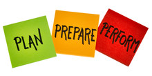 Plan, Prepare, Perform - Business Concept