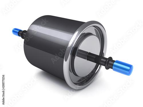 Fotografía  Fuel filter on white background