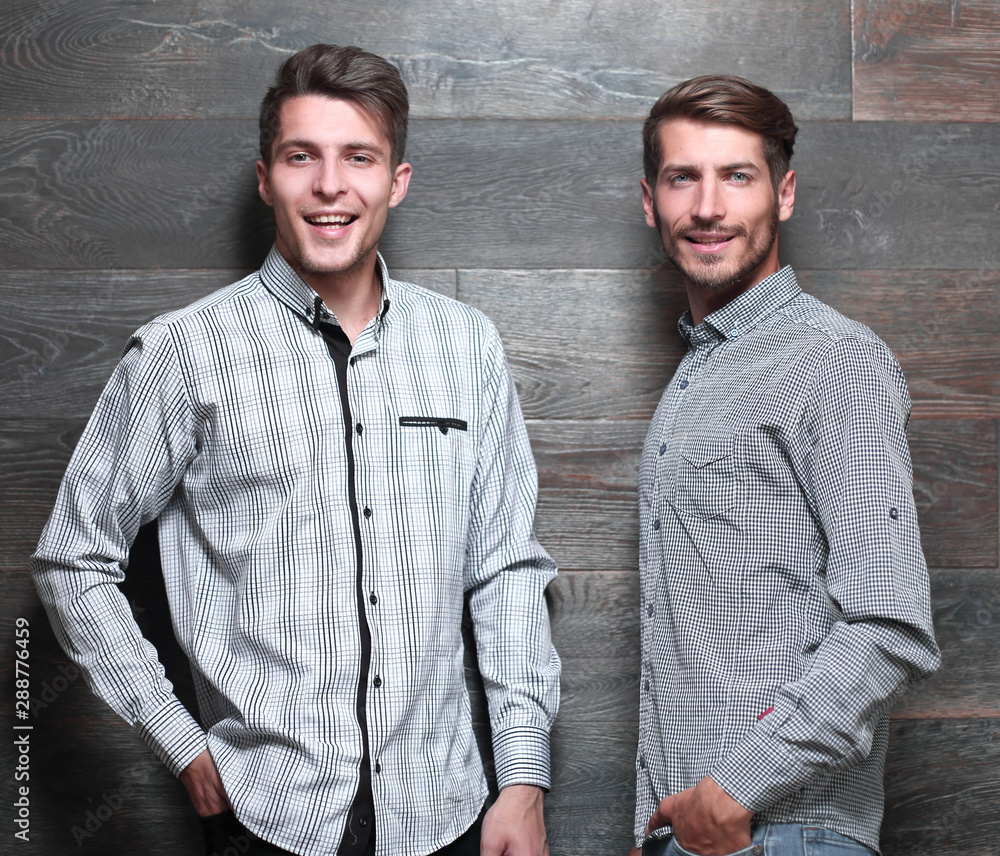Fototapety, obrazy: men stand in shirts indoors
