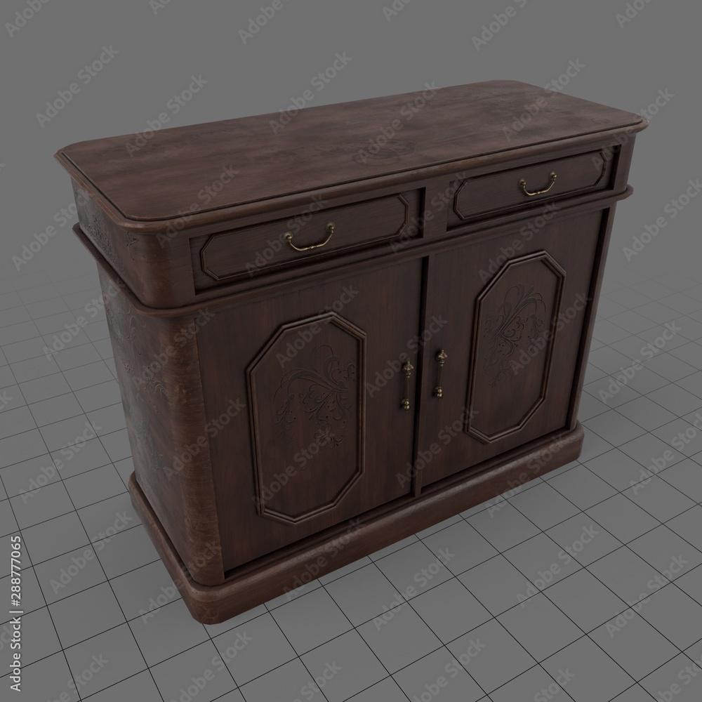Fototapeta Retro wooden bureau