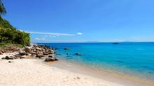 Beach In Vivid Tone. Cham Island, Hoi An, Da Nang, Vietnam.